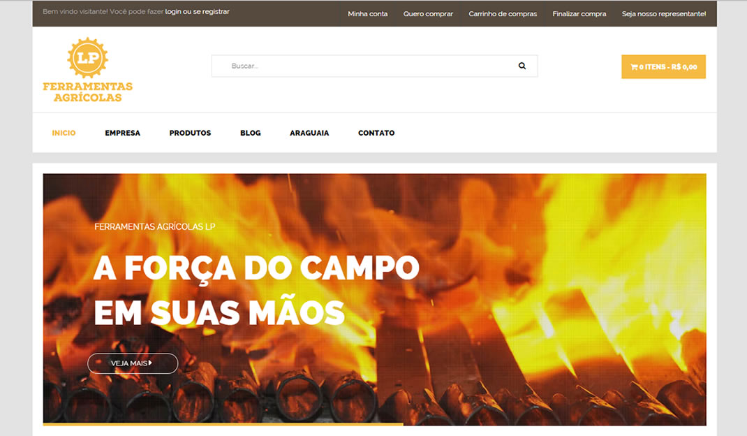 Home page Ferramentas LP